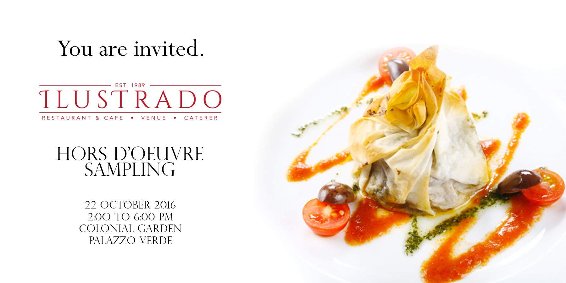Ilustrado Catering and Palazzo Verde pairs up for an exciting treat!