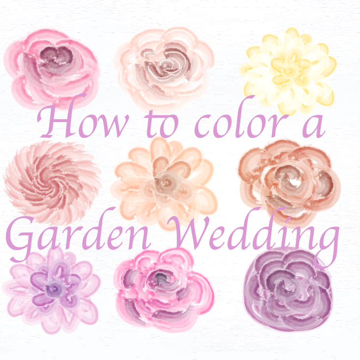 How to color a Garden Wedding?