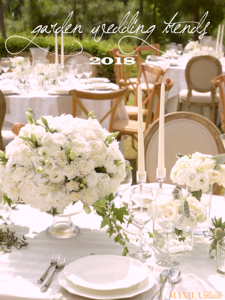 GARDEN WEDDING TRENDS FOR 2017-2018